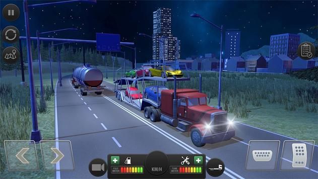 Truck Simulator Transporter Game - Extreme Driving poster