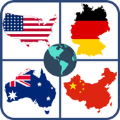 World map quiz & Geography trivia game icon