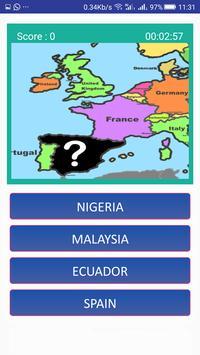 World map quiz & Geography trivia game screenshot 9