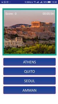 Capital cities quiz: World geography quiz screenshot 1