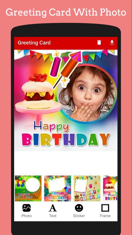 Birthday Reminder Greeting Cards Photo On Cake For Android Apk