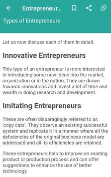 Entrepreneurship Skills Mindset and Concepts screenshot 2