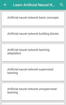 Learn Artificial Neural Network poster