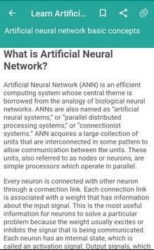 Learn Artificial Neural Network screenshot 1