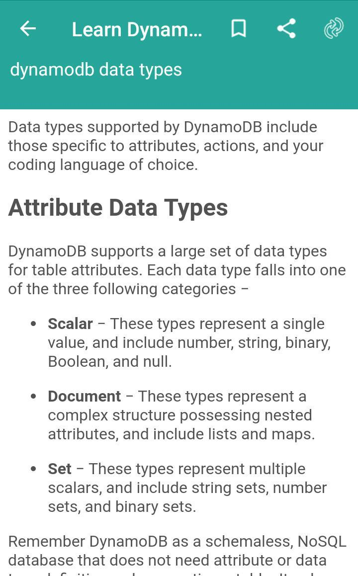 Learn Dynamodb for Android - APK Download