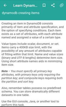 Learn Dynamodb screenshot 1
