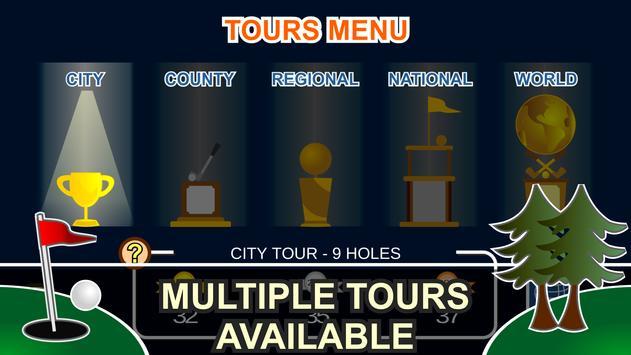 Mini Arcade Golf: Pocket Tours screenshot 20
