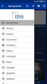 IISS Events screenshot 2