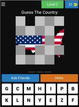 Guess Hidden Country Flag & Map Quiz 🌍 screenshot 16