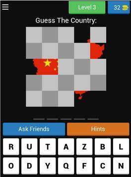 Guess Hidden Country Flag & Map Quiz 🌍 screenshot 17