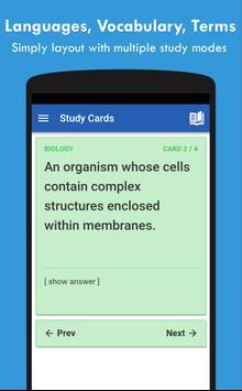 QuizCards: Flashcard Maker for Study and Quiz تصوير الشاشة 1