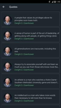 Dwight D. Eisenhower Quotes poster