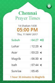Chennai Prayer Times screenshot 1