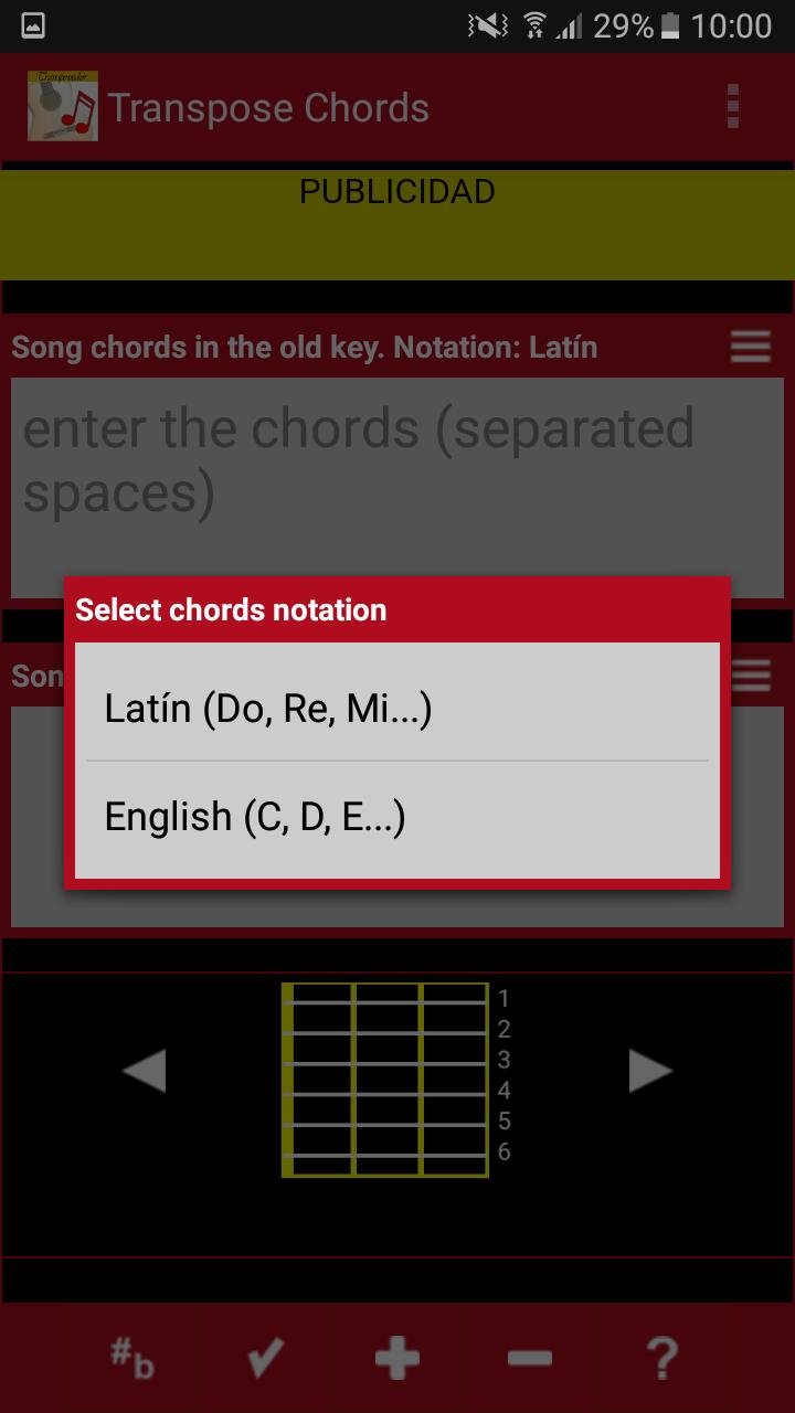 Transpose Chords for Android   APK Download