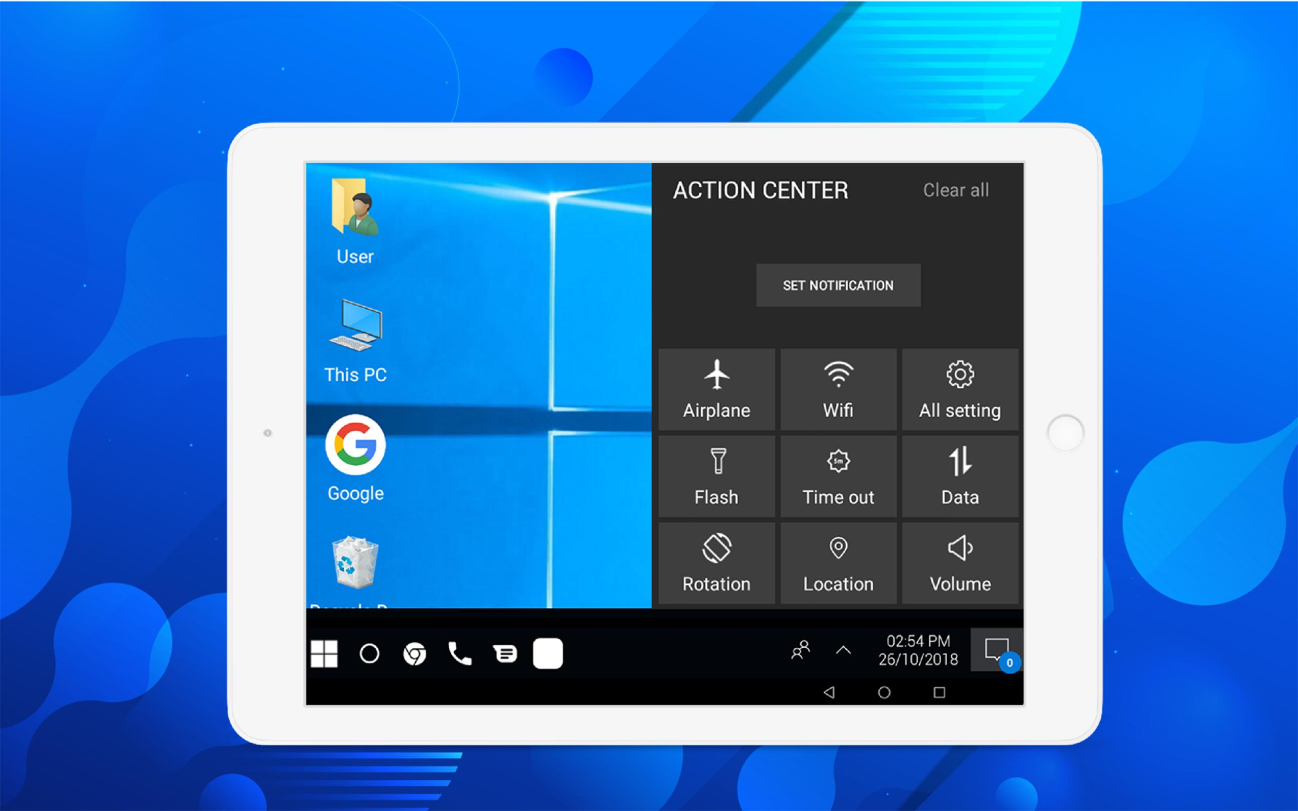 Computer launcher PRO 2019 for Win 10 themes for Android