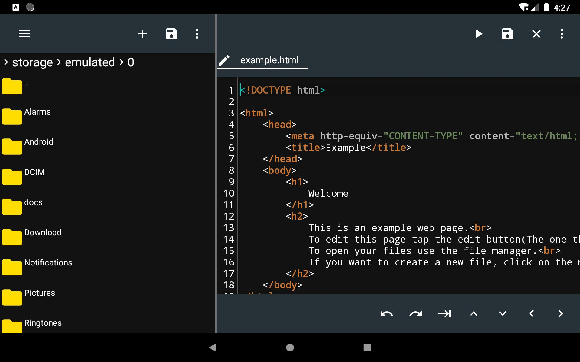 Edit Html On Android