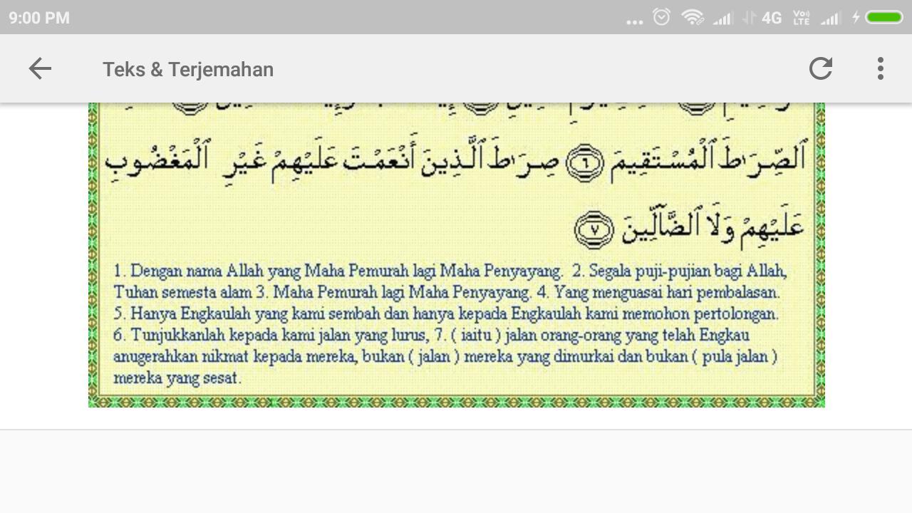 Surat Al Fatihah Dan Artinya For Android Apk Download