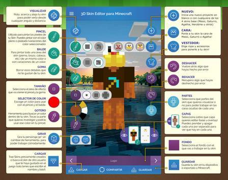 QB9 3D Skin Editor para Minecraft captura de pantalla 7