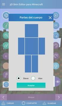 QB9 3D Skin Editor para Minecraft captura de pantalla 12