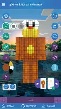 QB9 3D Skin Editor para Minecraft captura de pantalla 1