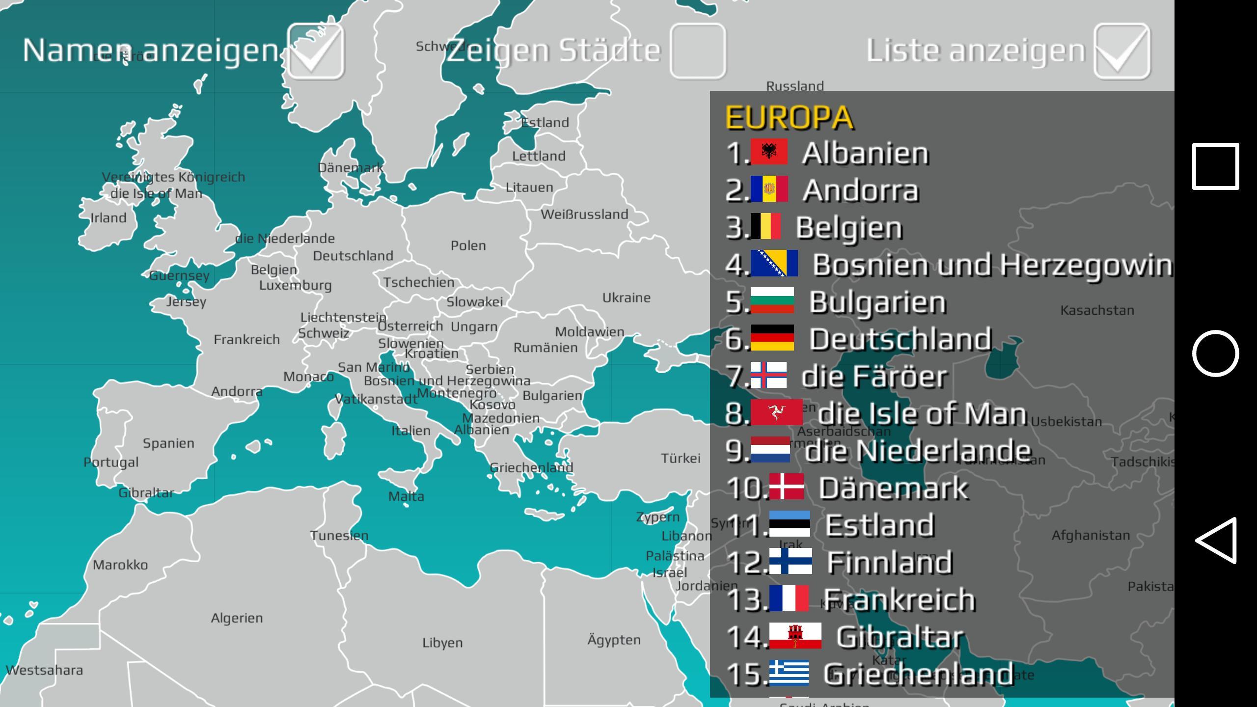 World Map Quiz für Android - APK herunterladen
