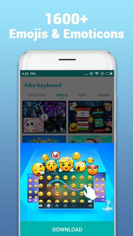 Kika Teclado - Emoji, GIFs Cartaz