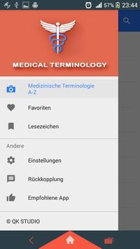 Medizinische Terminologie Plakat