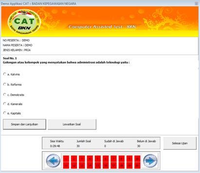 Simulasi CAT CPNS KEMENPAN-BKN screenshot 2