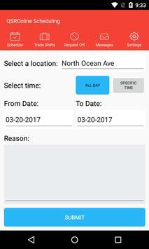 QSROnline Scheduling screenshot 5