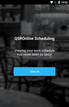 QSROnline Scheduling poster
