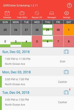 QSROnline Scheduling screenshot 10