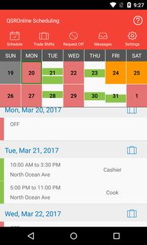 QSROnline Scheduling screenshot 1