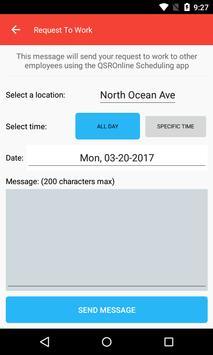 QSROnline Scheduling screenshot 3