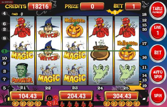 Slot Machine Halloween Lite screenshot 1