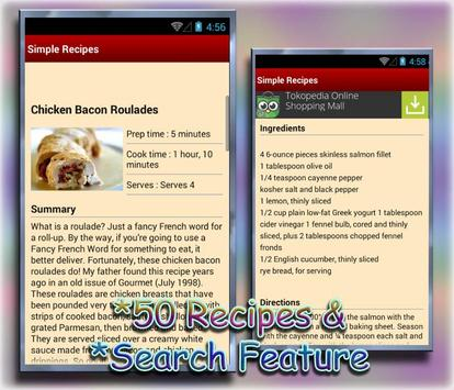 Simple and Easy Recipes screenshot 1