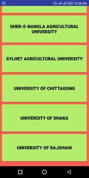 বিশ্ববিদ্যালয় ভর্তি Websites screenshot 2