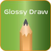 Glossy draw icon