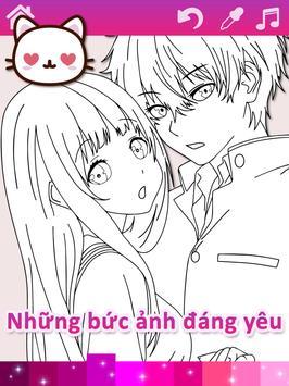Trang tô màu Anime Manga với hiệu ứng hoạt hình