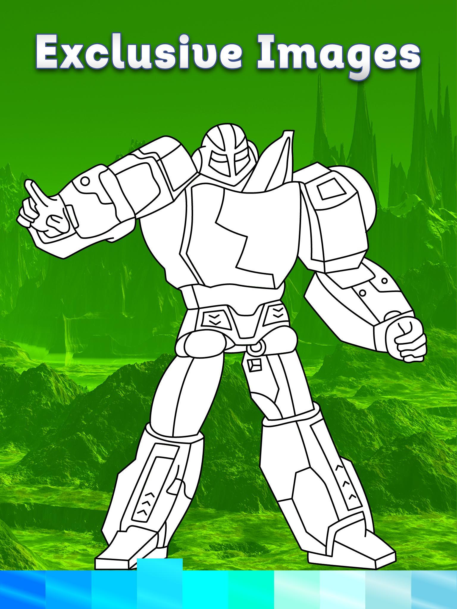 Robots Coloring Pages With Animated Effects For Android Apk Download