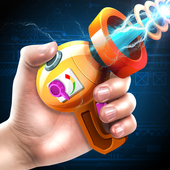 Space laser weapons blaster simulator icon