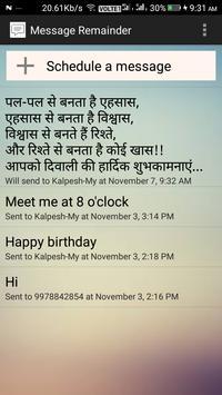 Message Reminder screenshot 4