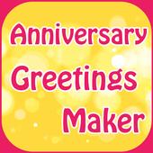 Anniversary Greetings Maker icon