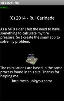 MTB Tire Pressure screenshot 1