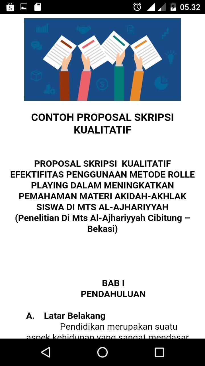 Kumpulan Contoh Proposal Terlengkap For Android Apk Download