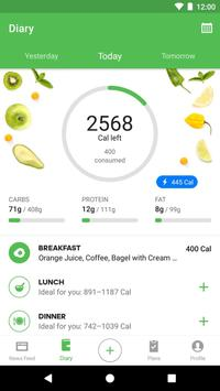 Runtastic Balance Calorie Calculator, Food Tracker poster