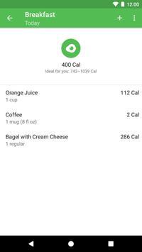 Runtastic Balance Calorie Calculator, Food Tracker screenshot 2