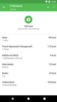 Runtastic Balance Kalorien- & Ernährungstagebuch Screenshot 2