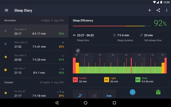 Runtastic Sleep Better Умный будильник и фазы сна скриншот 16