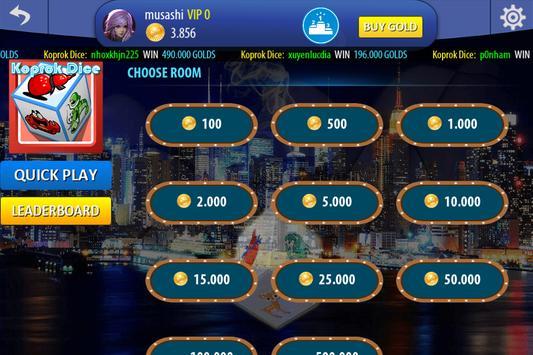 Chinese Poker Sicbo Koprok Dice Online screenshot 6