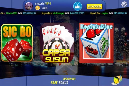 Chinese Poker Sicbo Koprok Dice Online screenshot 1